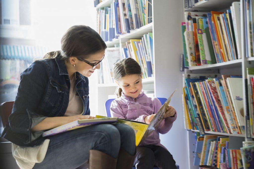 семейное посещение библиотеки