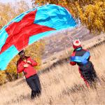 Как мызапускаем воздушных змеев осенью инепростываем