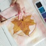 Осенняя открытка за 10 минут