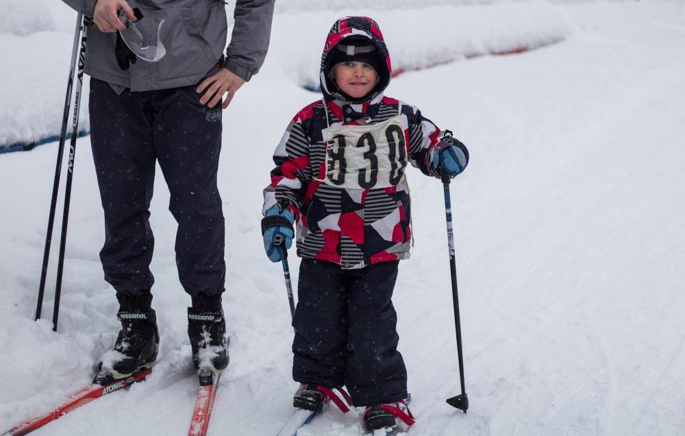 мы с дочерью на лыжах