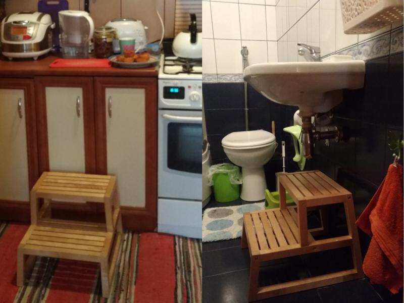 кухня и ванная для двухлетки