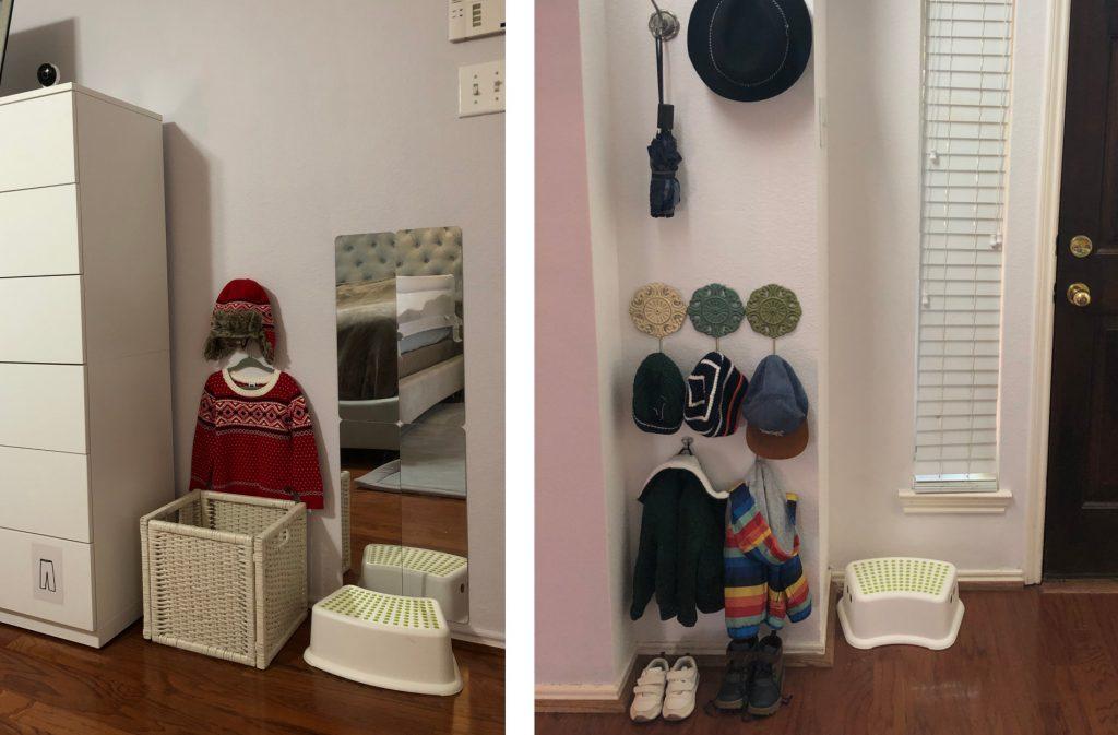Уголки для самостоятельного одевания ребёнка