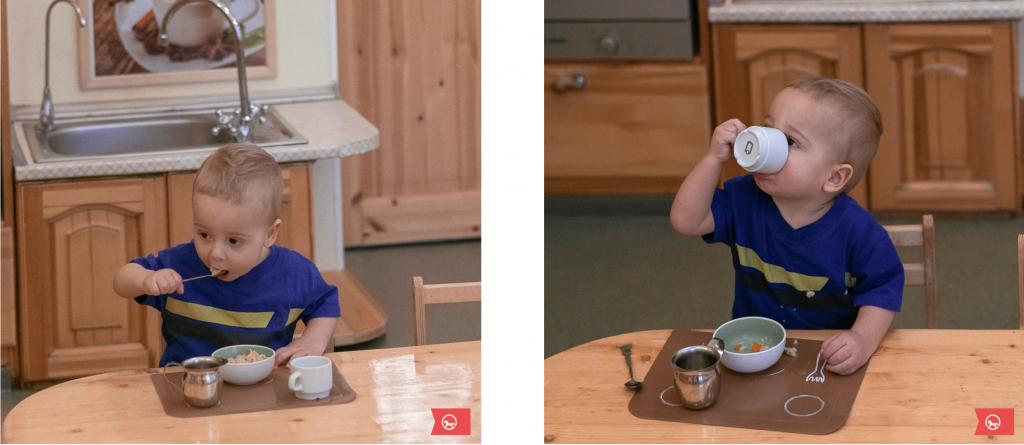 Ребёнок в 1,5 года ест сам