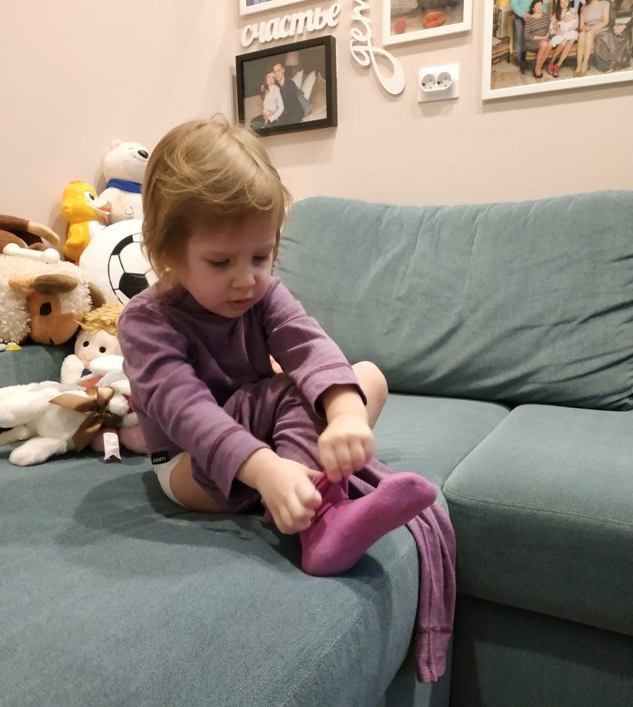 Ребёнок выбрал наряд по цвету