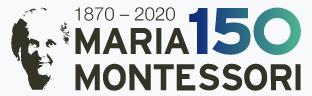 Логотип 150-летия Марии Монтессори