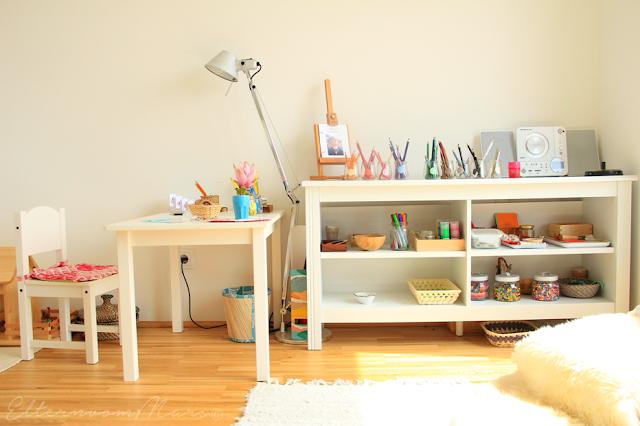 Уголок для творчества для детей с 3 до 6 лет