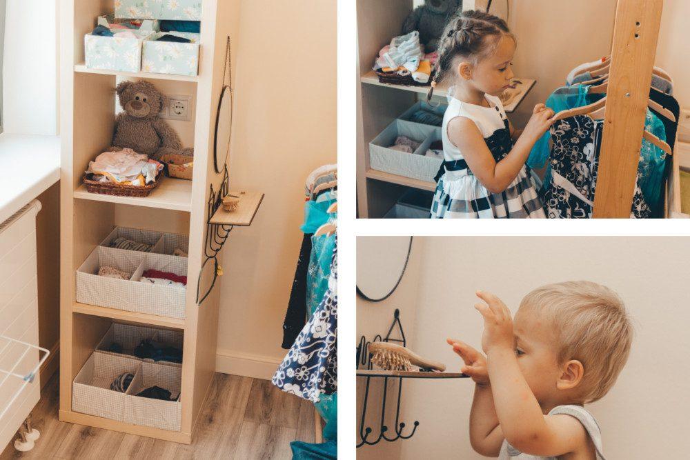 Шкаф с детской одеждой