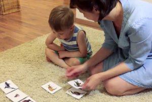 Занятие с карточками для развития речи