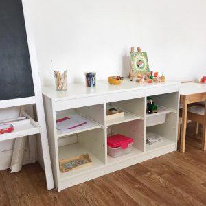 Как может выглядеть уголок для творчества ребёнка до 3 лет