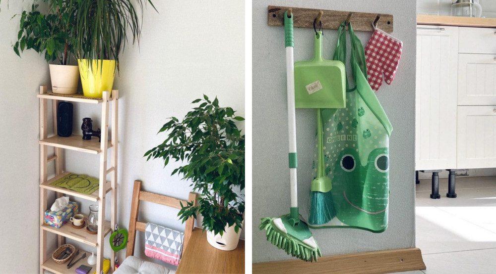 Детские предметы для уборки и кухонная утварь