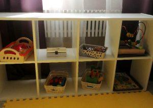 Икеевский стеллаж для игрушек