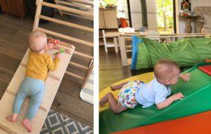 Сензитивный период движения: дети карабкаются по горке