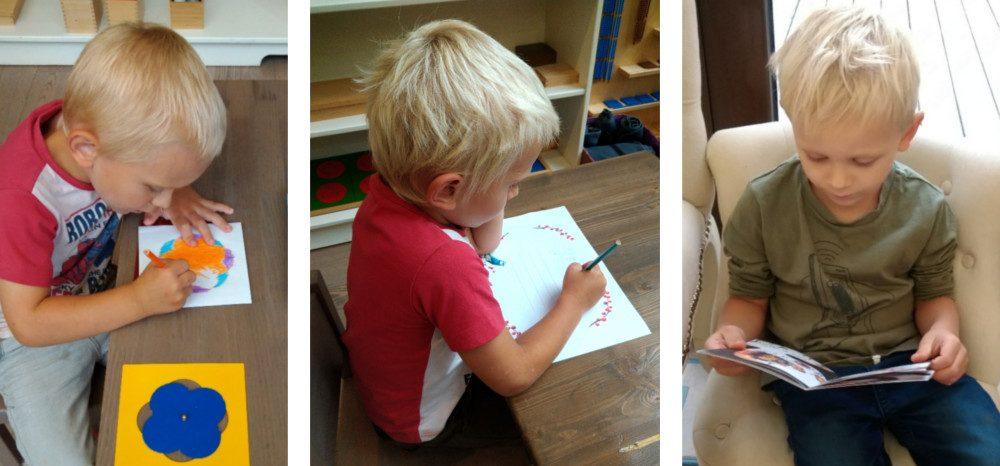 ребёнок учится писать и читать