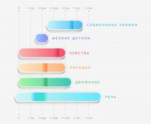 Сензитивные периоды: схема