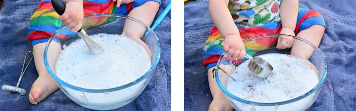 игры с мыльной водой венчиком и ситом