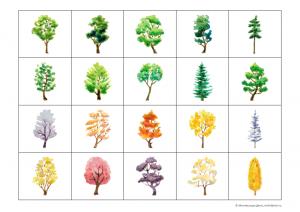 карточки деревья