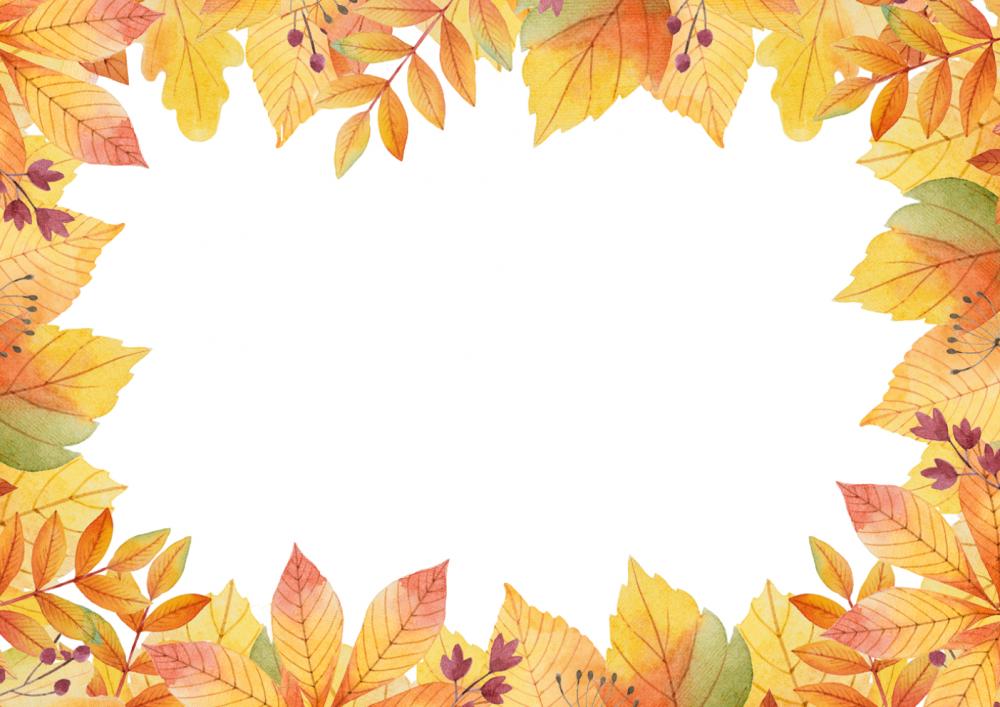 рамка осень
