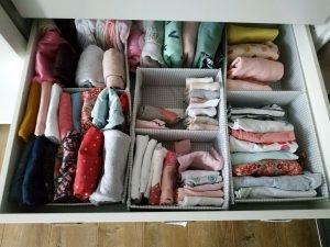 Хранение детской одежды в комоде