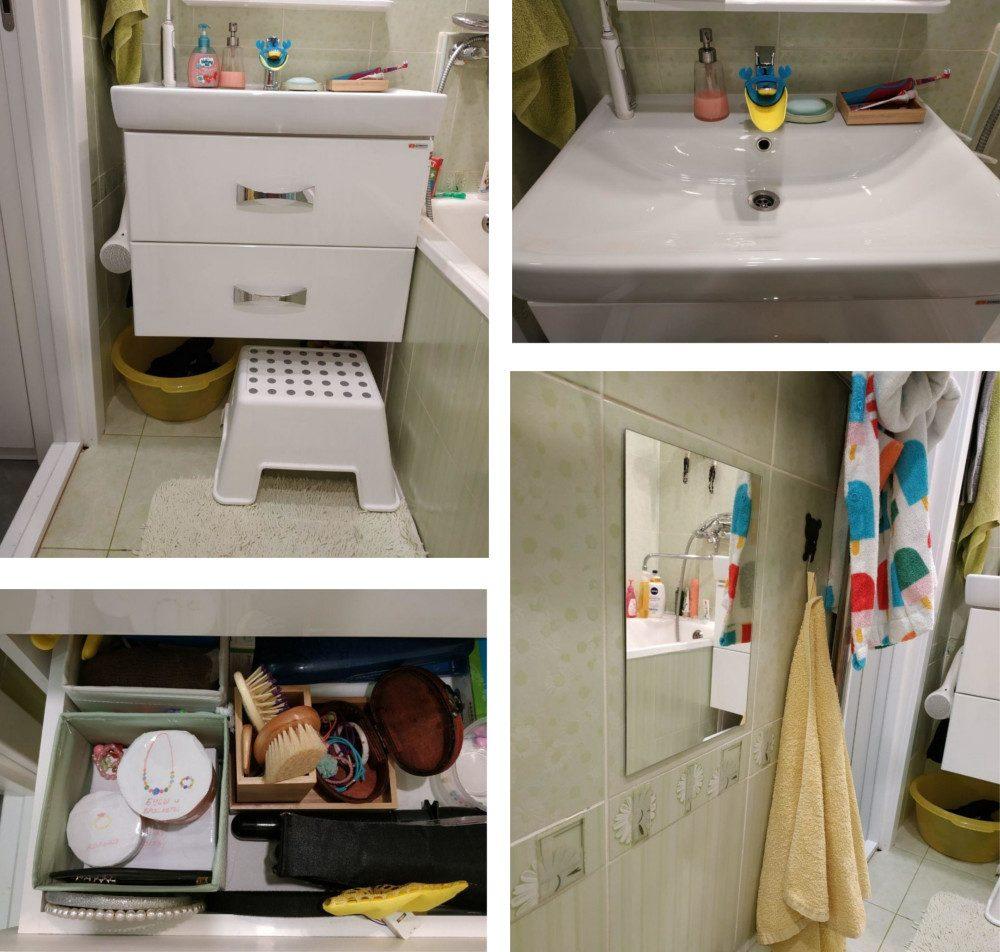 Зона для самостоятельного ухода за собой в 3-4 года в ванной