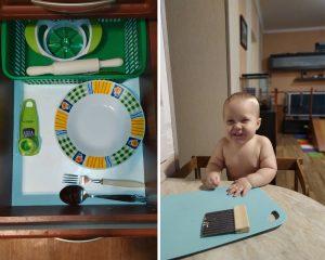 малыш и посуда