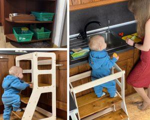 Малыш на кухне