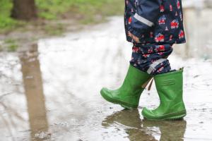 прогулка под дождём