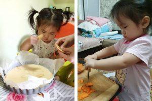 Самостоятельный ребенок на кухне