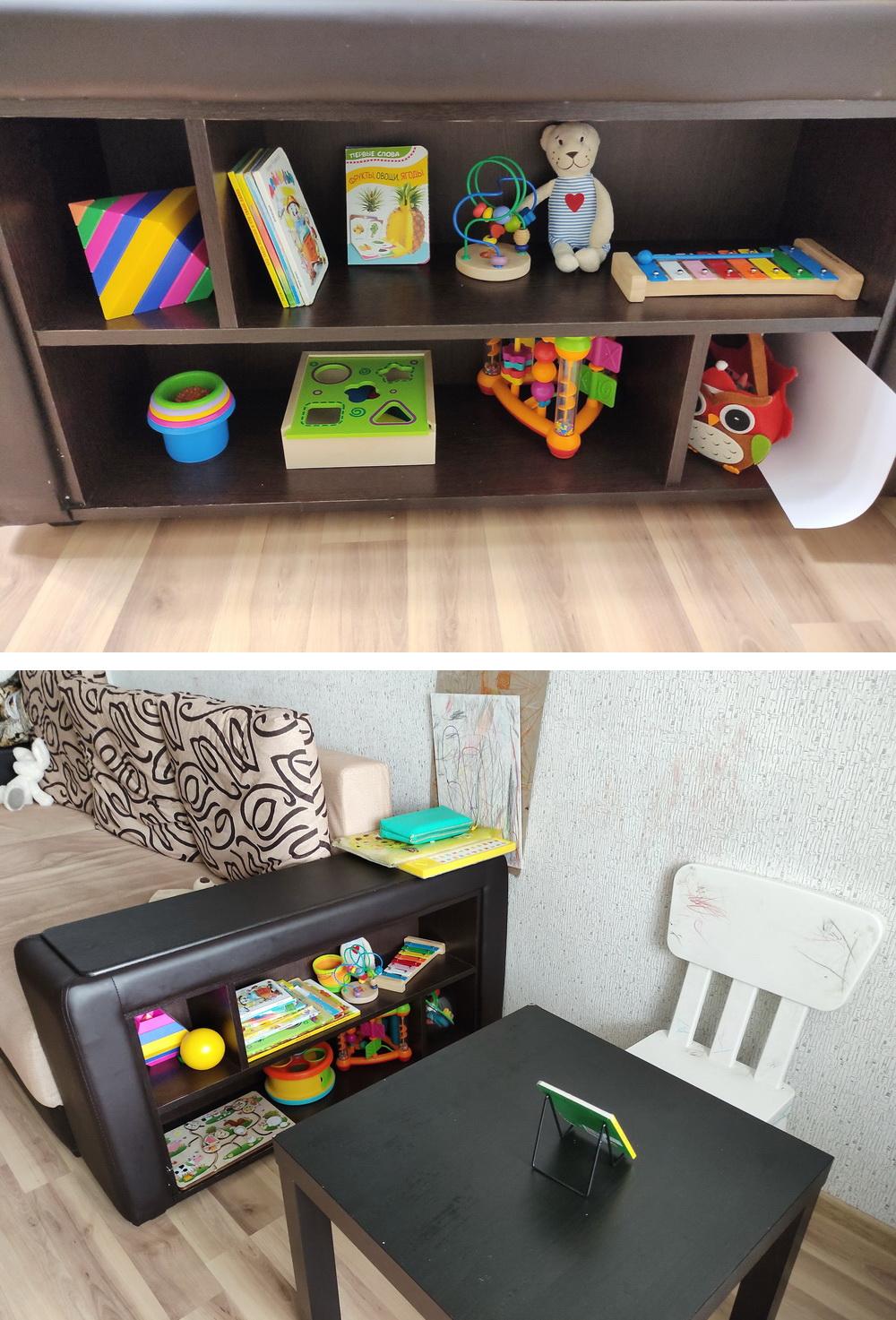 Идея небольшой детской зоны для ребенка