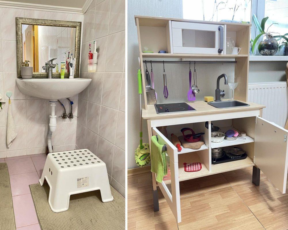 ванная и кухня для малыша