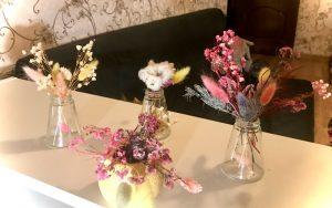 сухоцветы в вазах