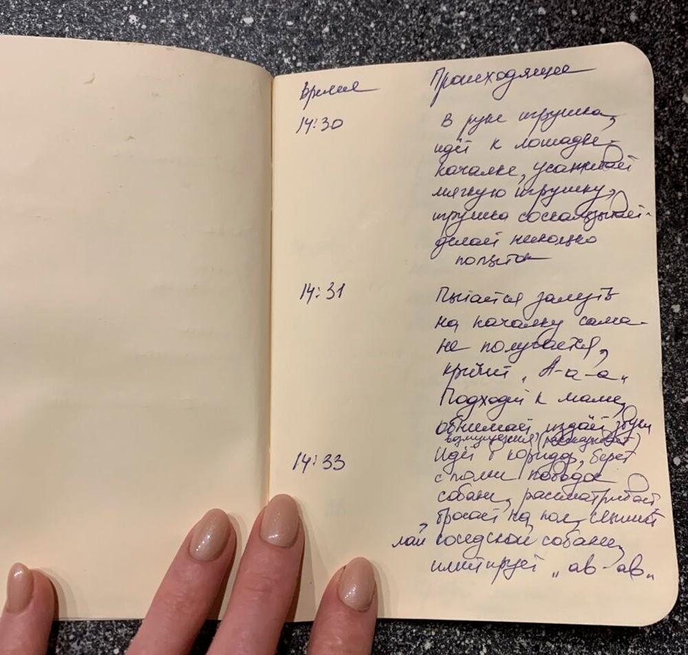 дневник наблюдения за ребёнком