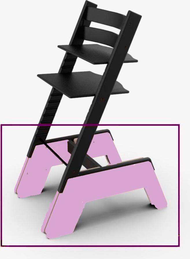 стул с массивным низом