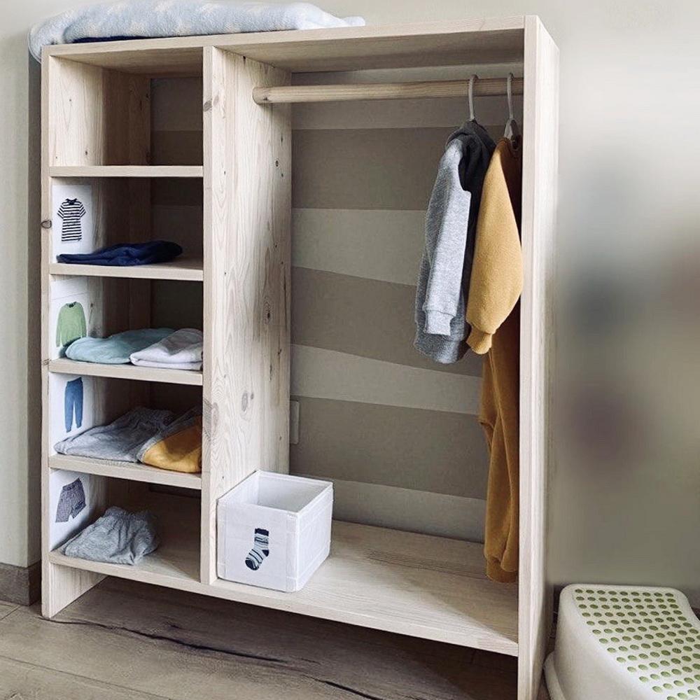 Детский шкаф для одежды Монтессори