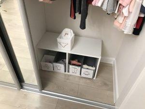 Гардеробная для ребёнка в общем шкафу
