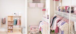 гардеробная для маленького ребенка