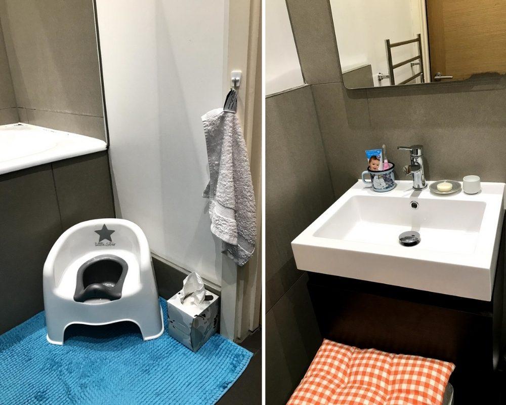 ванная и раковина детская