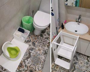 ванная и туалет для ребёнка в стиле Монтессори